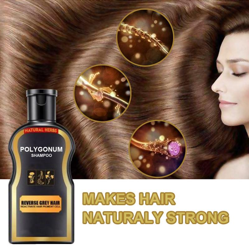 30ml Shampoo Polygonum Shampoo Bar Black Hair Shampoo Natural Shampoos Hair Care Repair Oil Grey Reverse Hair Color Shampoo