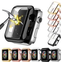 Чехол для часов, защитный чехол для Apple Watch 5, 4, 3, 2, 1, 42 мм, 38 мм, прозрачный пластиковый экран для iWatch 44 мм, 40 мм, полный защитный чехол