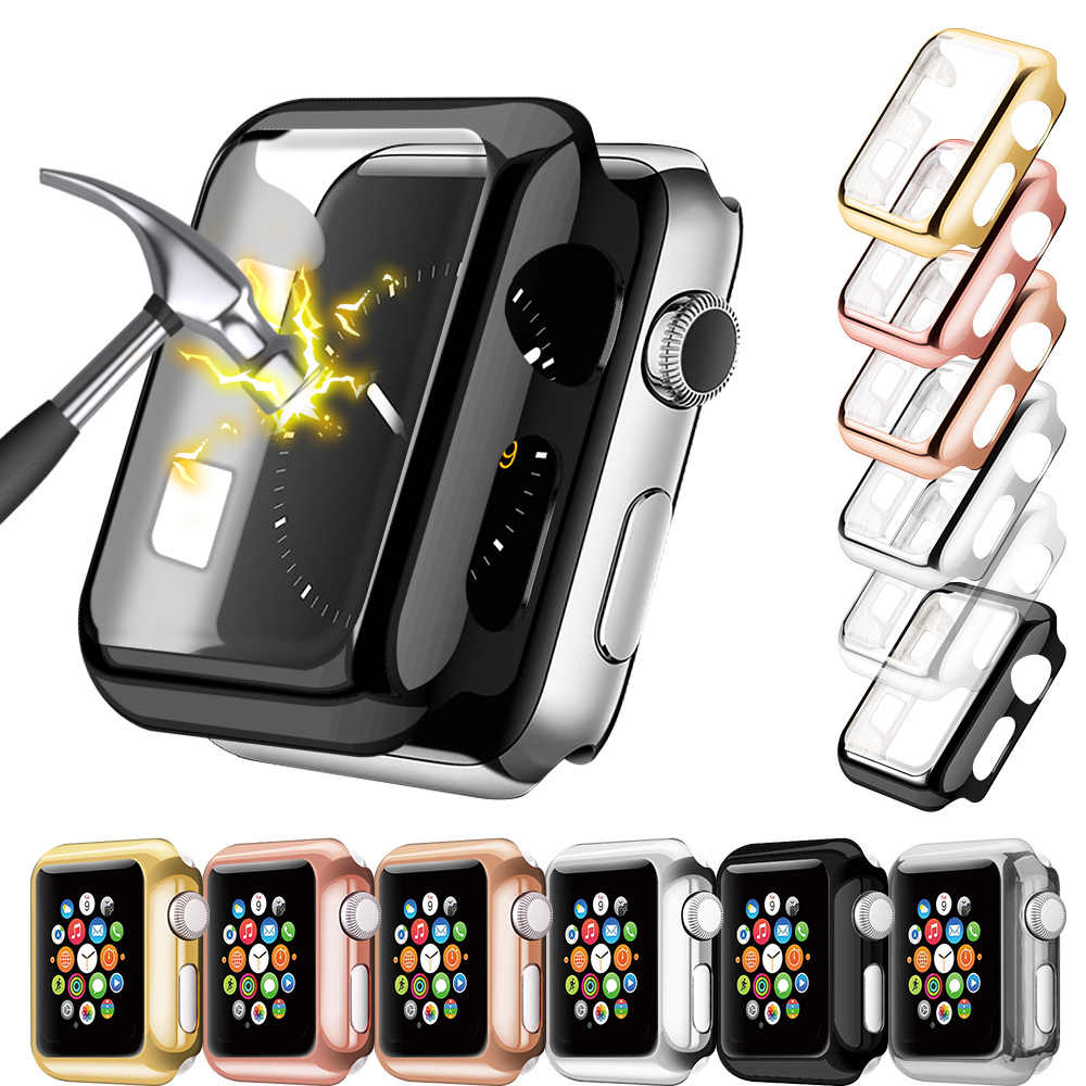 Watch Cover PC Protector Case for Apple Watch 5 4 3 2 1 42MM 38MM Clear Plastic Screen for iWatch 44MM 40MM Full Protector Case