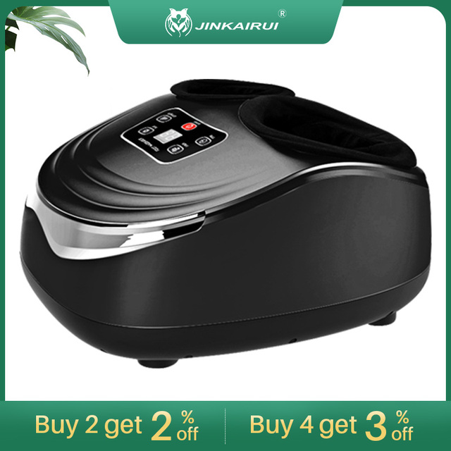 EU Plug Electric Antistress Foot Massager Vibrator Massage Machine Infrared Heating Therapy Health Care Device
