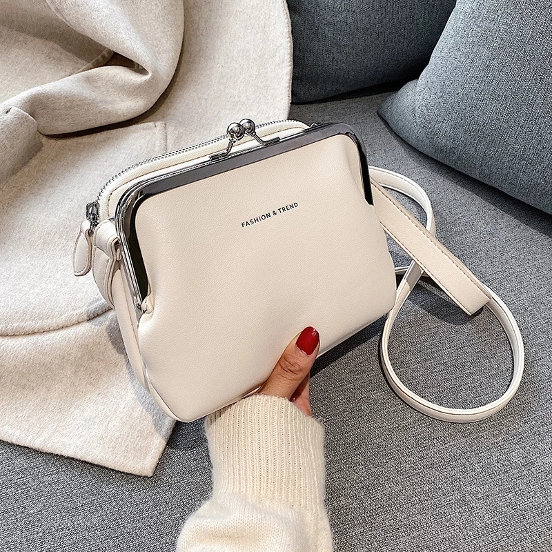 Fashion Pu Leather Women's Crossbody Bag White Summer Women's Bag Shoulder Bag Brand Women's Handbag white Travel Bag Bolsas