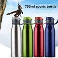 Новый экологически чистый 750 мл/25 унций нержавеющей стали 304 Спорт & Открытый чайник американский стиль мой бутылка для воды портативная руч...