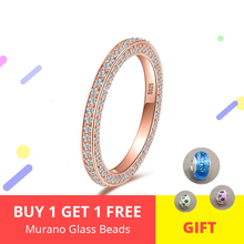 New Listing 100% 925 sterling silver Rose Gold Ring with Clear Cz for women trendy Jewelry Valentine gift 2019 недорого