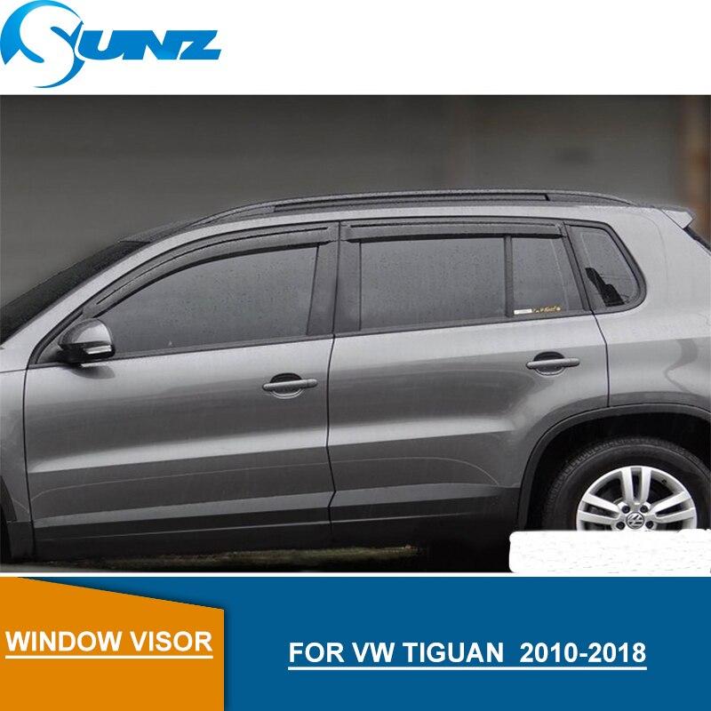 Pour Volkswagen VW TIGUAN Pare-brise déflecteurs pour VW TIGUAN 2010 2011 2012 2013 2014 2015 2016 2017 2018 Accessoires SUNZ