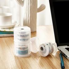 Kawaii Japanese Stationery Masking Tape Cut Washi Tape Box Dispenser Storage Tape Dispenser Office Desk Office Organizer Ta O7U5