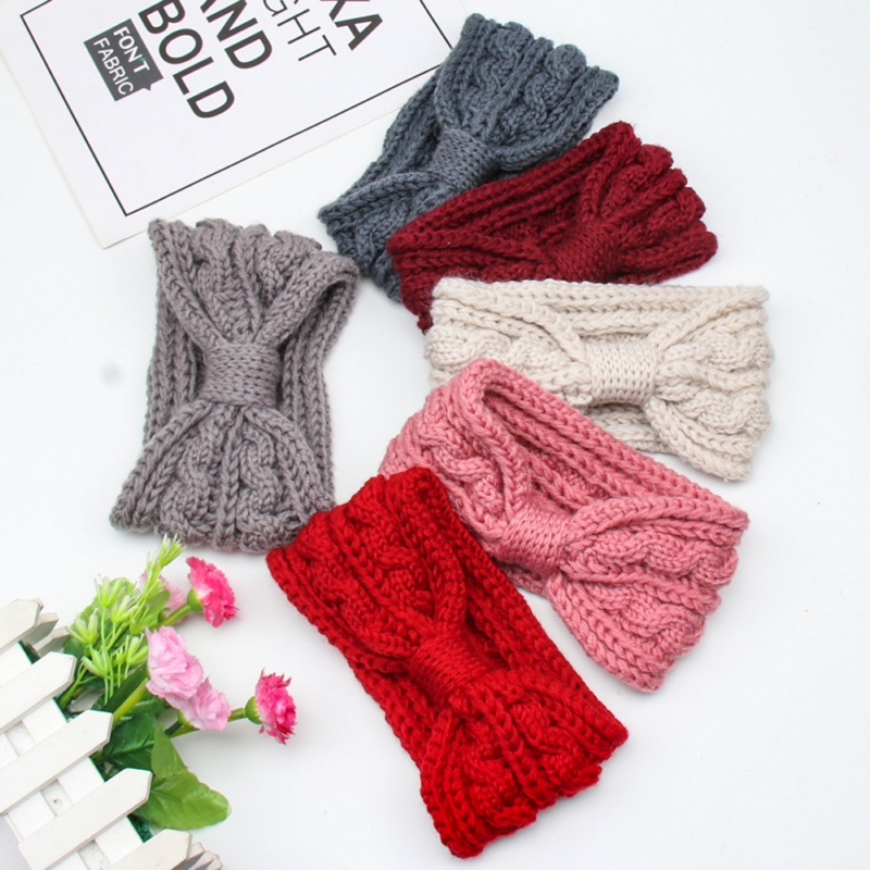 Winter Knitted Knotted Padded Headband For Women Solid Color Warm Ear Autumn Turban Premium Hairband Women Hair Accessories