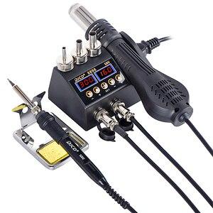 Image 1 - 2 in 1 750W Löten station LCD Digital display schweißen rework station für handy BGA SMD PCB IC Reparatur solder werkzeuge 8898