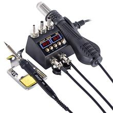 2 in 1 750W 납땜 스테이션 LCD 디지털 디스플레이 용접 재 작업 스테이션 BGA SMD PCB IC 수리 솔더 도구 8898