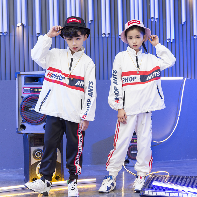 Kids Hip Hop Dancing Costumes For Girls Boys Jazz Dance Costumes Ballroom Clothes Stage Wear Child Party Show Shirts Pants Suits