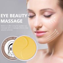 VERONNI 60pcs Gold/Seaweed Collagen Eye Mask Face Anti Wrinkle Gel Sleep Eye Patches Collagen Moisturizing Eye Mask Eye Care janssen коллаген для век белые бобы collagen eye lid mask bean