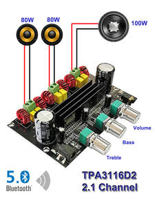 Power Amplifier-Board Subwoofer Audio Class Stereo Equalizer Bluetooth TPA3116D2 100W