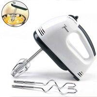 Batidor de huevos eléctrico multifuncional, minibatidora Manual automática de 7 velocidades para alimentos, pasteles y masa