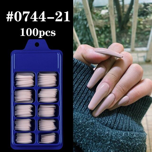 Фото 100 шт акриловые накладные ногти овальные профессиональные накладные цена