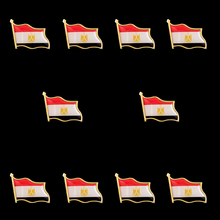 10PCS Egypt Country Waving Flag Pin Brooch W/Butterfly Clip Brooch Badge Collectible Lapel Pin Tie Hat Accessories japan national waving flag brooch brooch pin badge career suits tie clip bag accessories
