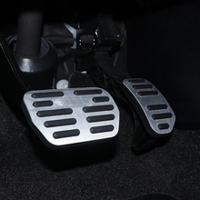 For  TOYOTA RAV4 Corolla  Levin AT car pedal gas foot rest stainless modified pad non slip performance aluminium fuel