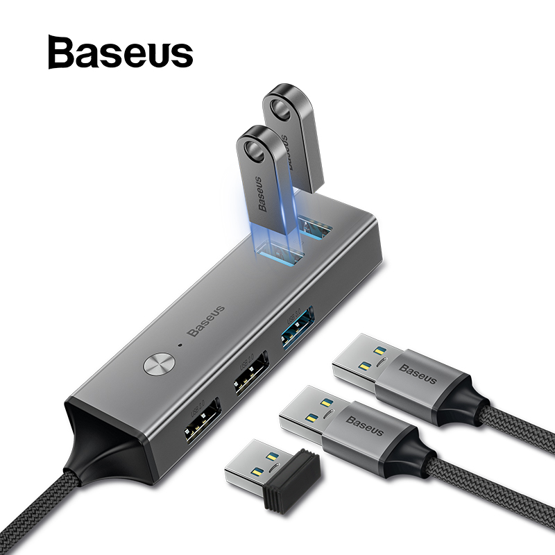 Moyeu USB C Baseus vers USB 3.0 USB 2.0 HUB USB pour MacBook Pro Surface Pro 6 moyeu C développer 5 Ports USB répartiteur USB