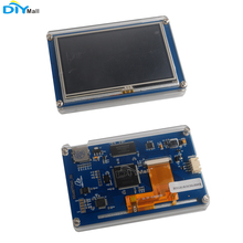 Nextion Basic NX4827T043 4.3'' HMI LCD Display Module TFT Touch Panel with Acrylic Clear Case for Arduino Raspberry Pi ESP8266 nextion 4 3 tft 480x272 nx4827t043 hmi resistive touch screen uart smart display module for arduino raspberry pi esp8266