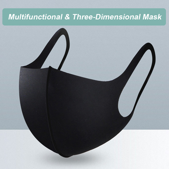 10 pcs Reusable Face Mask Thin Breathable Dustproof Anti-Splash Solid Washable Mouth Cover Protective Mask for face kids Adult
