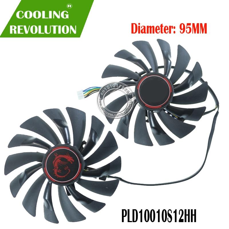 Novo 95mm pld10010s12hh 4pin ventilador refrigerador para msi gtx 960 gtx 970 jogos gtx 950 gtx 1060 rx 470 gaming x fã de cartão gráfico