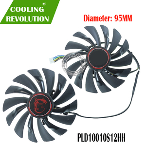 NEW 95mm PLD10010S12HH 4PIN Cooler fan For MSI GTX 960 GTX 970 GAMING GTX 950 GTX 1060 RX 470 GAMING X Graphic Card Fan(China)
