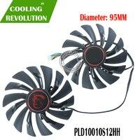 Novo 95mm pld10010s12hh 4pin ventilador refrigerador para msi gtx 960 gtx 970 jogos gtx 950 gtx 1060 rx 470 gaming x fã de cartão gráfico|Ventiladores e resfriadores|   -