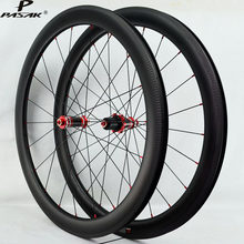 Pasak 700C Carbon Wheelset Clincher Tubeless Road Bike Gravel Wheels 40mm 50mm 55mm 3K Twill Rims Width 25mm Sealed Bearing(China)