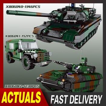 XingBao MOC Militär Technik Series Achse Panthet Tank Modell Bausteine Sets Wagen Armee WW2 Soldaten DIY Ziegel Kinder Spielzeug