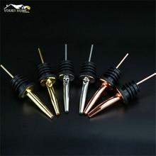 4pcs/ set New Stainless Steel Various Wine Liquor Spirit Pourer Free Flow Bottle Pour Spout Stopper Bar Tools