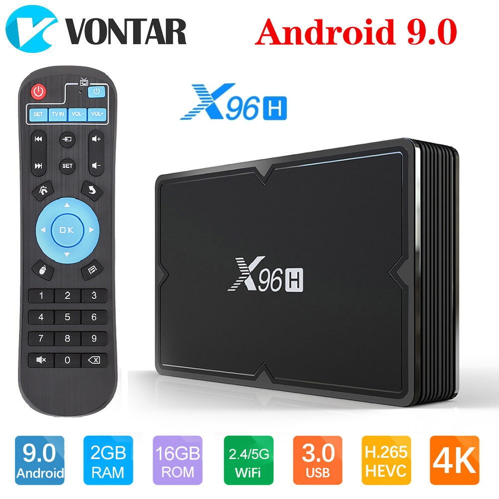 VONTAR X96H Smart TV BOX X96 Mini Android 9.0 4GB 64GB 32GB Allwinner H603 Wifi 1080P 4K Netflix Youtube 2GB 16GB Set Top Box