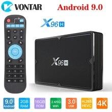 VONTAR X96H חכם טלוויזיה תיבת X96 מיני אנדרואיד 9.0 4GB 64GB 32GB Allwinner H603 wifi 1080P 4K Youtube 2GB 16GB סט Top Box