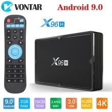 فونتار X96H مربع التلفزيون الذكية X96 مصغرة أندرويد 9.0 4GB 64GB 32GB Allwinner H603 واي فاي 1080P 4K يوتيوب 2GB 16GB مجموعة صندوق