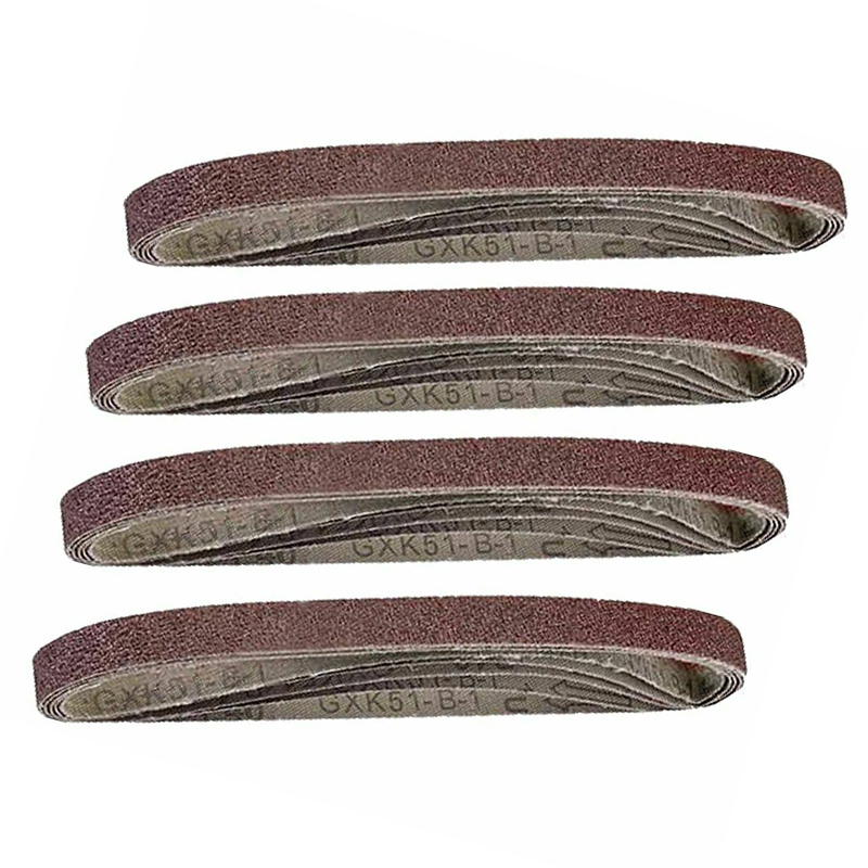 20pcs Alumina Sanding Air Belt Finger Sander Belts Polishing Home Grinding Tool
