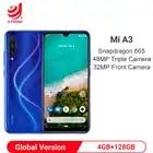 Global Version Xiaomi MI A3 4GB 128GB Android One Snapdragon 665 Octa Core 6.088 48MP + 32MP Camera 4030mAh Smartphone