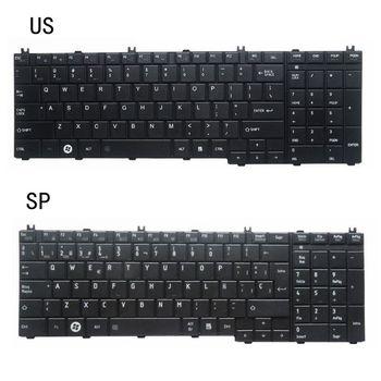 Nowy US SP laptopa klawiatura do toshiba z dostępem do kanałów satelitarnych C650D C650 C655 C655D C660 C660D C670 L675 L750 L755 L670 L650 AER15U00310 tanie i dobre opinie YALUZU UK Standard