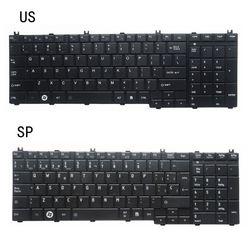 Nowy US/SP laptopa klawiatura do toshiba z dostępem do kanałów satelitarnych C650D C650 C655 C655D C660 C660D C670 L675 L750 L755 L670 L650 AER15U00310 w Zamienne klawiatury od Komputer i biuro na