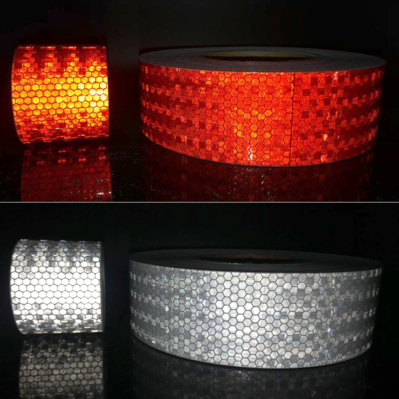 20Roll Wholesale Car Reflective Material Tape Sticker Automobile Motorcycles Safety Warning Tape Reflective Film Car Stickers