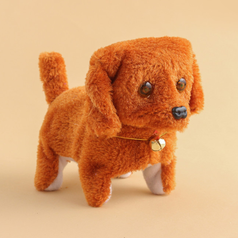 Children Electric Toy Plush Walking Glowing Barking Dog Simulation Moving Animal Doll Toy For Baby Toys Gift