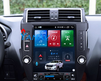 32G 64G Android Car GPS Navigation DVD radio multimedia Player for Toyota-Land Cruiser Prado 2014-2016 Tesla Vertical Screen He zaixi car android system 1080p ips lcd screen for toyota land cruiser prado 150 2014 2017 car radio player gps navigation wifi