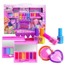 New Style Cosmetics Set Toy Make Up Kits Cute Play House Children Gift Safe No Toxic For Girls Dressing Cosmetic Gift Box(China)
