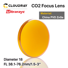 цена на Ultrarayc China CO2 ZnSe Focus Lens Dia.18 19.05 20 mm FL38.1 50.8 63.5 101.6 127mm 1.5 - 4 for Laser Engraving Cutting Machine