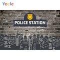 Polizei Station Vintage Ziegel Wand Stadt Baby Dusche Junge Geburtstag Hintergrund Fotografie Hintergrund Vinyl Foto Kulissen