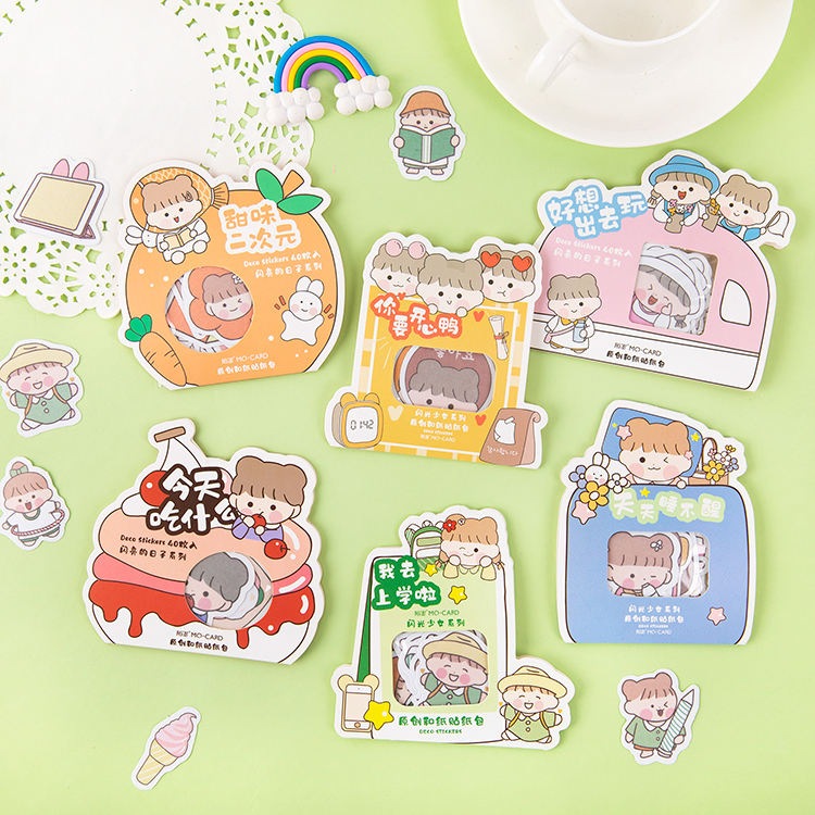 Flash Girl Series Bullet Journal Decorative Funny Cartoon Stationery Stickers Scrapbooking DIY Diary Album Stick Lable