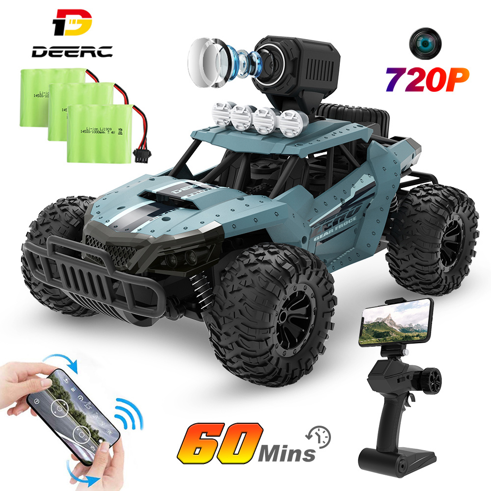 3 Batteries RC Car Racing Truck DE36W  Toy 720P Camera Wifi FPV 1:16 Big Remote Control Trucks Car Toy For Boy 20KM//H Machine