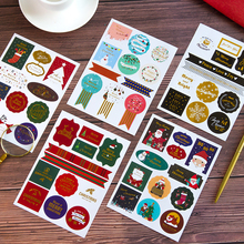 2pcs/lot Christmas seal stickers Adhesive Stickers DIY Decoration Diary stationery