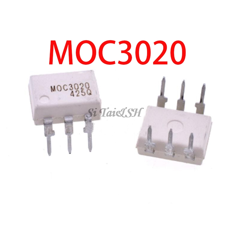 10PCS MOC3020 MOC3021 MOC3022 MOC3023 MOC3041 MOC3043 MOC3052 MOC3061 MOC3062 MOC3063 DIP6 DIP And  IC