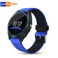 Reloj inteligente v9 para android, reloj inteligente para hombre, llamada de música interactiva, mensajes de empuje, reloj inteligente android