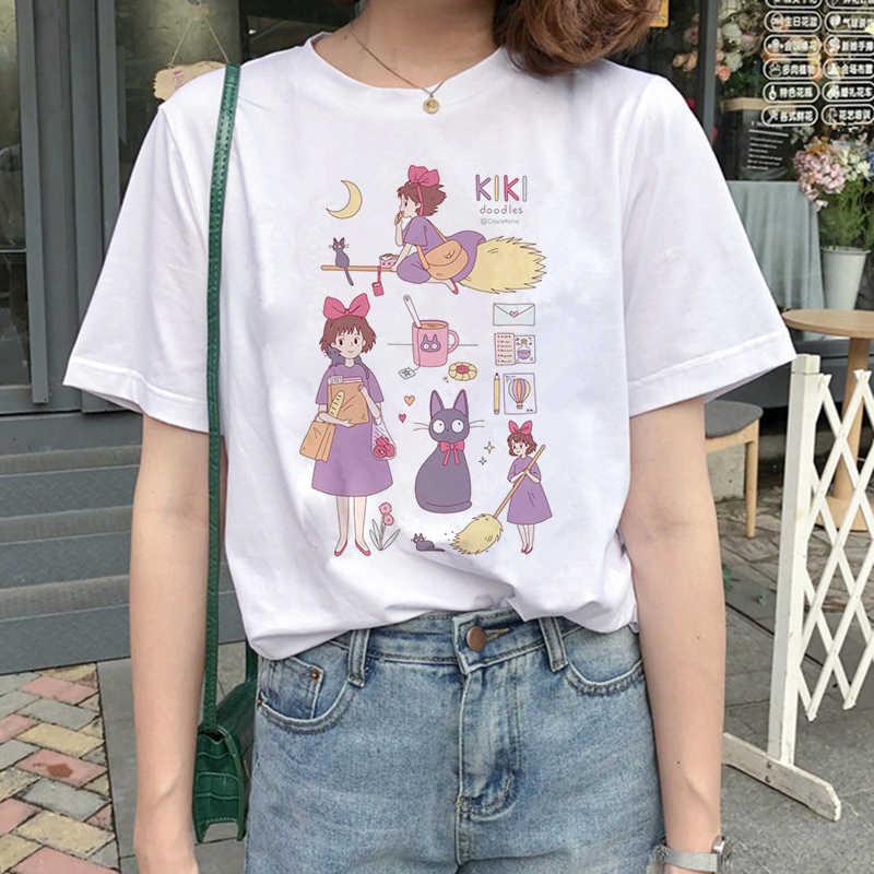 Lus Los Totoro t shirt karikatür kadın giysileri femme Anime ruh uzakta tshirt Anime kadınlar japon kadın en tee gömlek