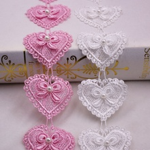 Embroidered Lace Ribbon Trim Sewing-Decoration Beaded Applique Pearl Handmade 1yard Costume