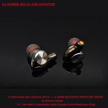 N2 Hifi Sport Kopfhörer für Telefon ONEPLUS MI 8mm Super Bass DD + 29689 BA Fahrer mit MMCX 1,2 M Abnehmbare Kabel