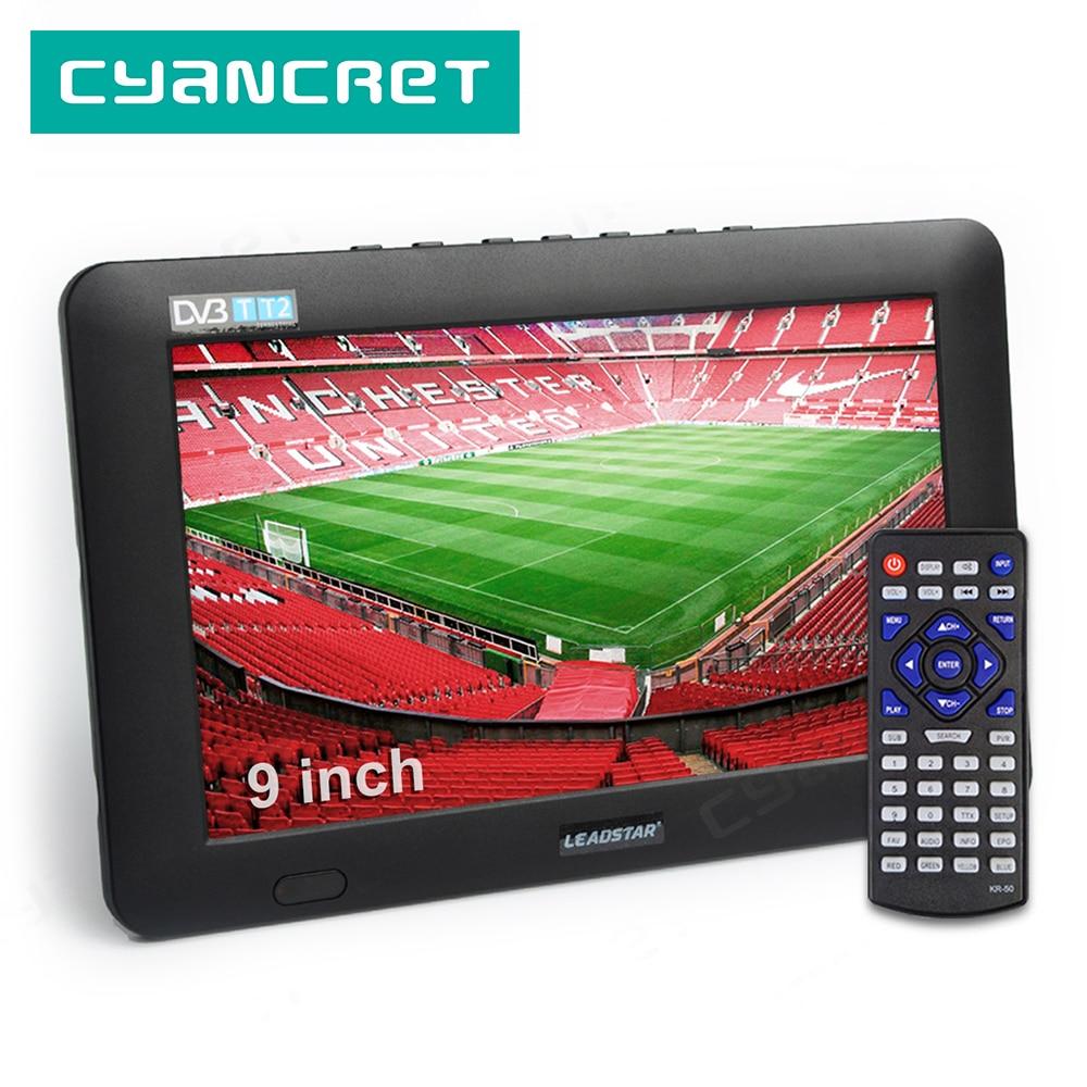LEADSTAR 9 inch Portable TV DVB T2 ATSC ISDB T tdt Digital and Analog mini small Car Television Support USB TF PVR MP4 H.265 AC3|Portable TV| - AliExpress